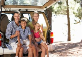 happy family with used car from Melbourne Car Broker