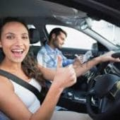 women gets new car and used car from Melbourne Car Broker